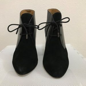 Coach Leather and Suede Booties